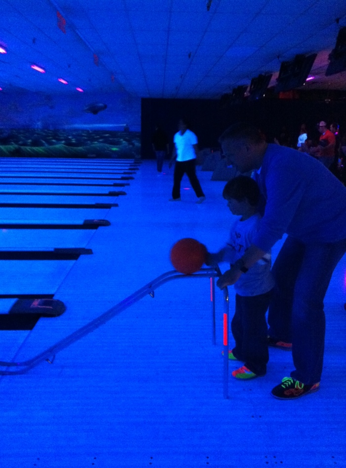 Max and Dad Bowling